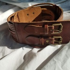 J. Crew Boho Leather Belt Size Small